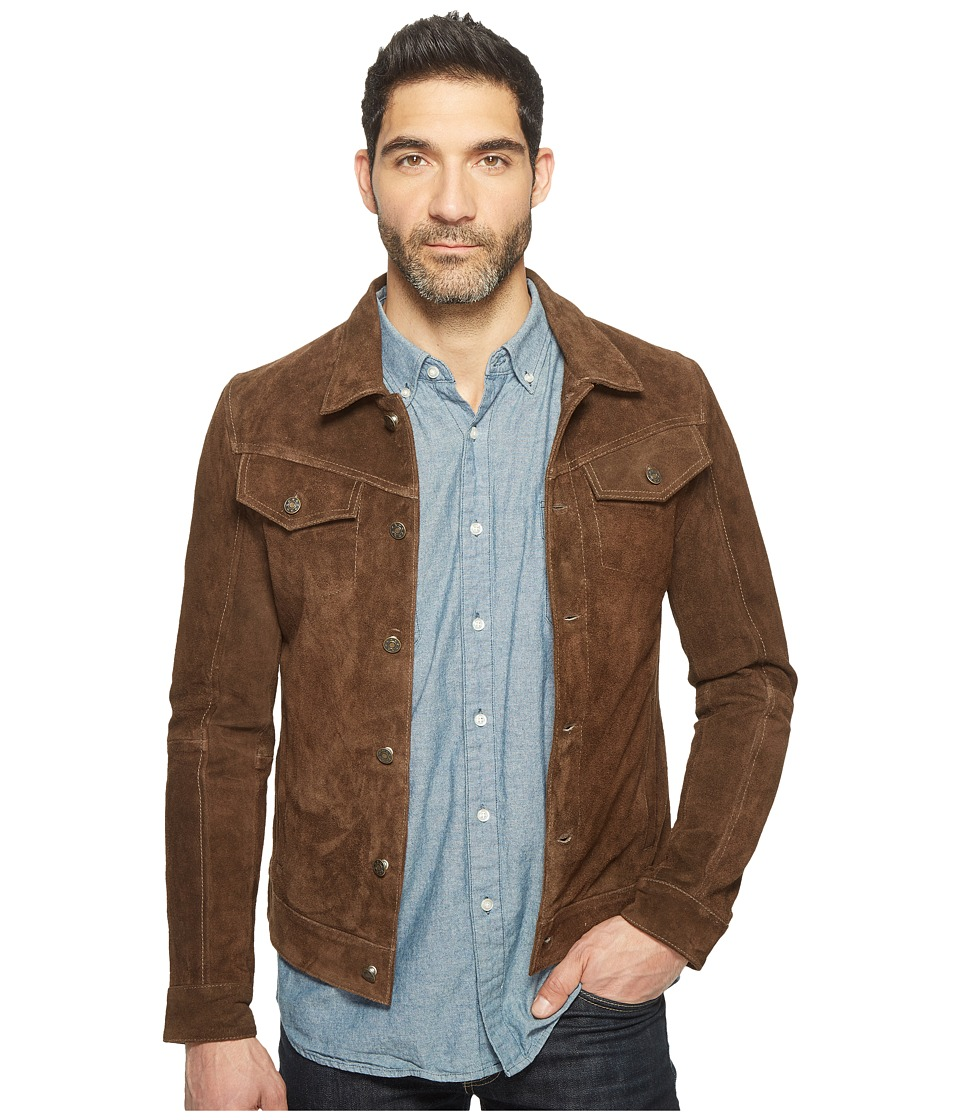 Goosecraft - Cow Suede Denim Jacket 987 (Fossil) Men's Coat