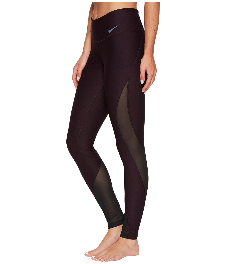 Nike - Power Training Tight (Port Wine/Black) Women's Workout
