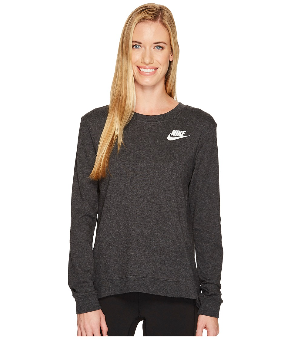 Nike Sportswear Gym Classic Crew (Black Heather/Sail) Women