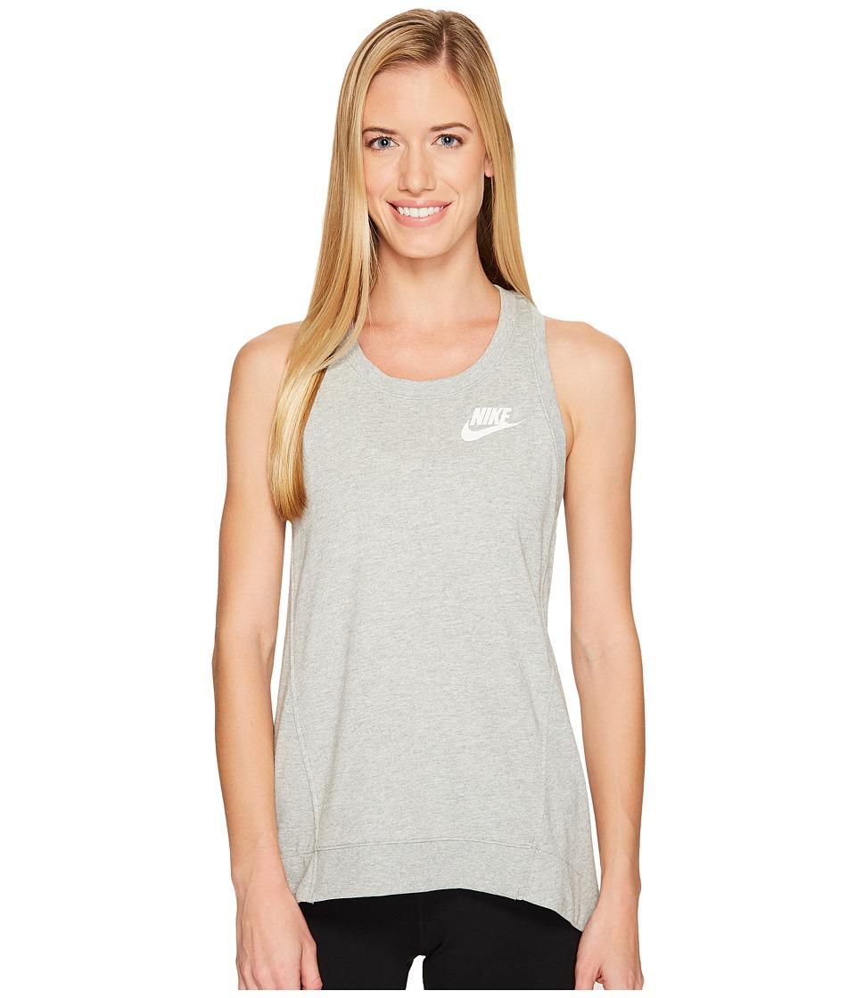 Nike Sportswear Gym Classic Tank (Dark Grey Heather/Sail) Women