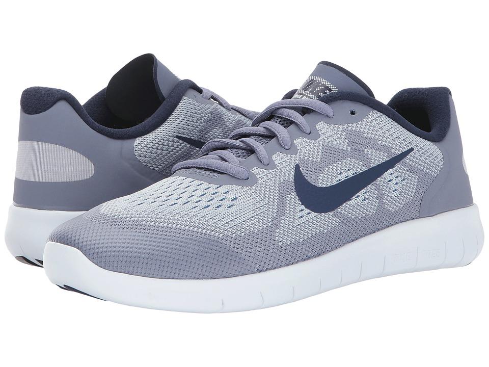 Nike Kids Free RN 2 (Big Kid) (Wolf Grey/Binary Blue/Dark Sky Blue) Boys Shoes