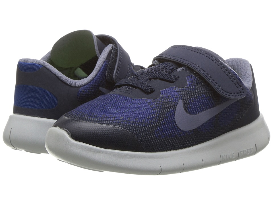 Nike Kids Free RN 2017 (Infant/Toddler) (Binary Blue/Dark Sky Blue/Obsidian) Boys Shoes