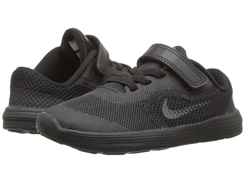 Nike Kids Revolution 3 (Infant/Toddler) (Black/Black) Boys Shoes