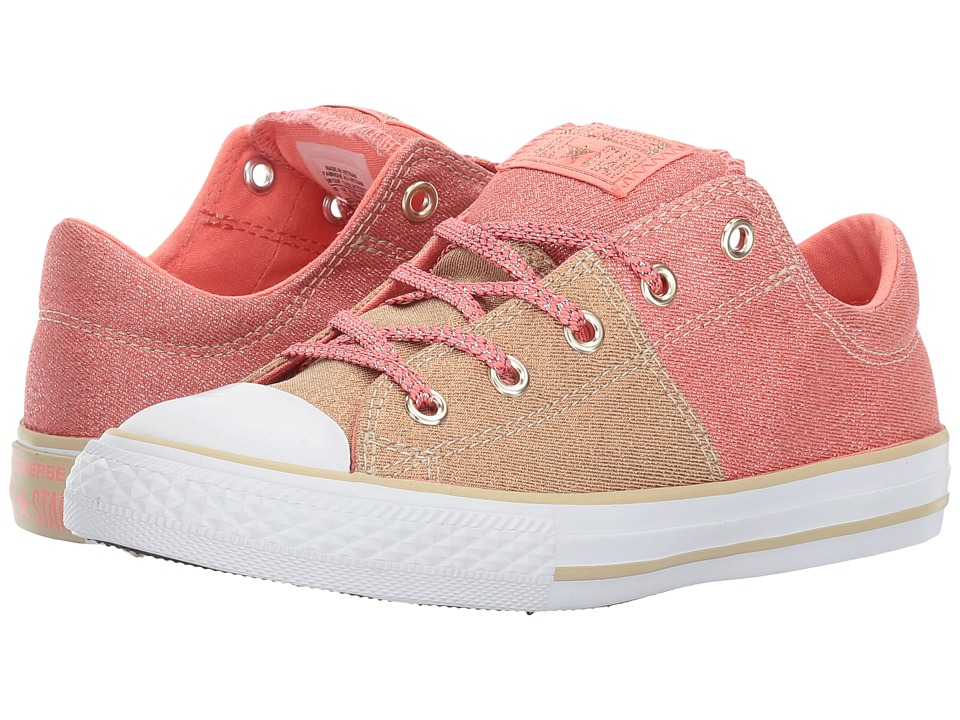 Converse Kids - Chuck Taylor All Star Madison Ox (Little Kid/Big Kid) (Pale Gold/Sunblush/White) Girl's Shoes