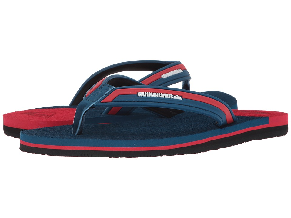Quiksilver - Molokai New Wave Deluxe (Blue/Red/Black) Men's Sandals