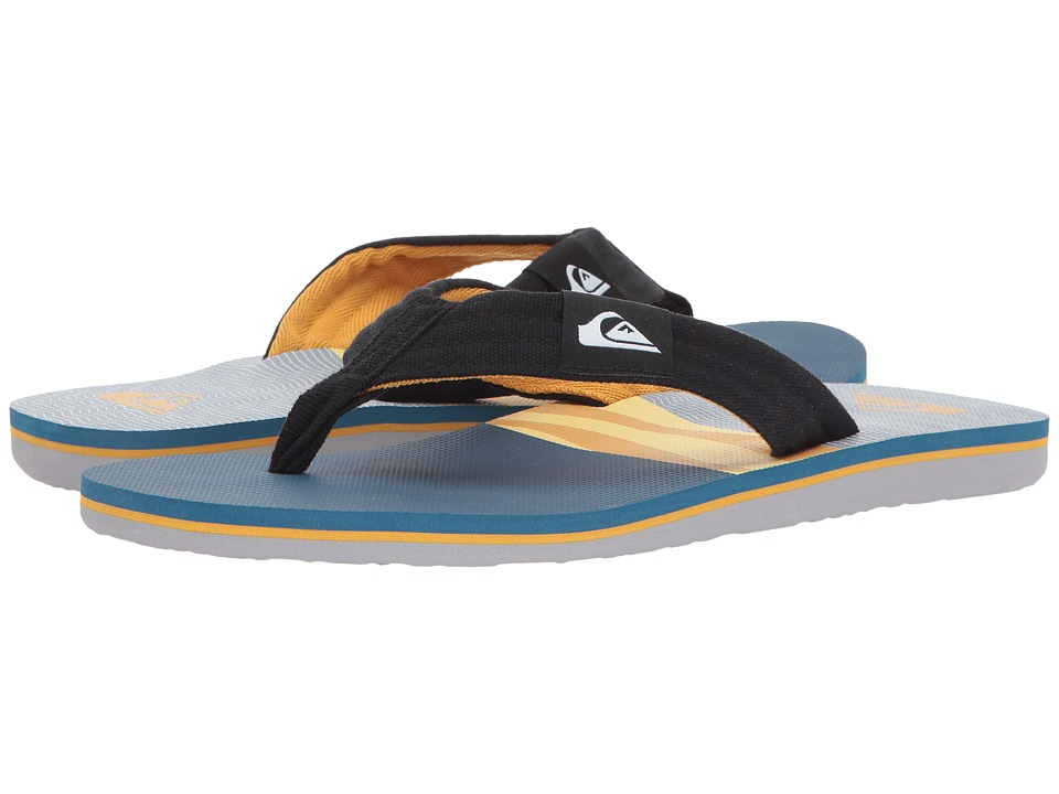 Quiksilver  QUIKSILVER - MOLOKAI LAYBACK (BLACK/ORANGE/BLUE) MEN'S SANDALS