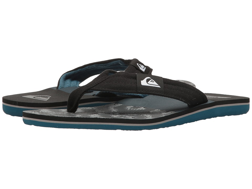 Quiksilver - Molokai Layback (Black/Grey/Blue) Men's Sandals