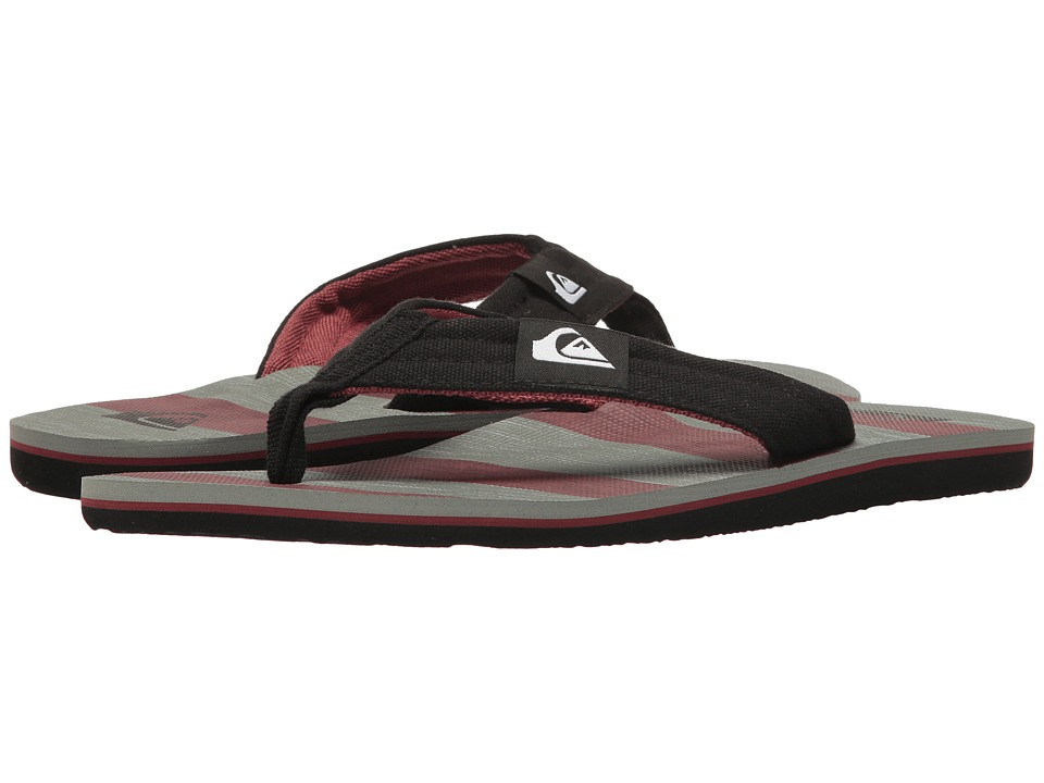 Quiksilver - Molokai Layback (Grey/Grey/Red) Men's Sandals