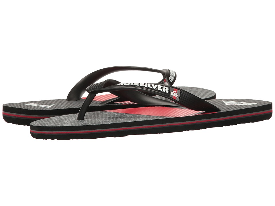 Quiksilver - Molokai Everyday Blocked (Black/Grey/Red) Men's Sandals