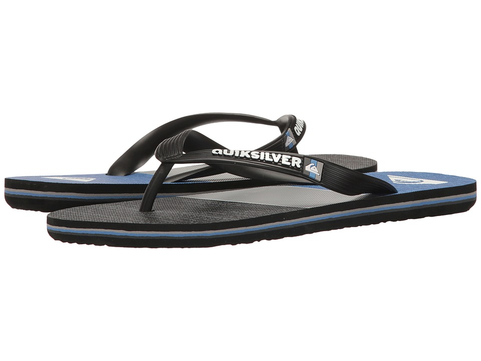 Quiksilver - Molokai Everyday Blocked (Black/Grey/Blue) Men's Sandals
