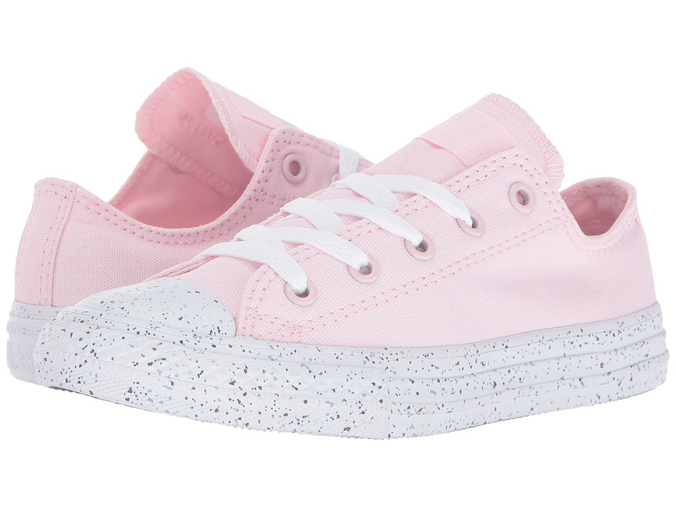 Converse Kids Chuck Taylor All Star Speckled Midsole Ox (Little Kid) (Arctic Pink/White/White) Girl