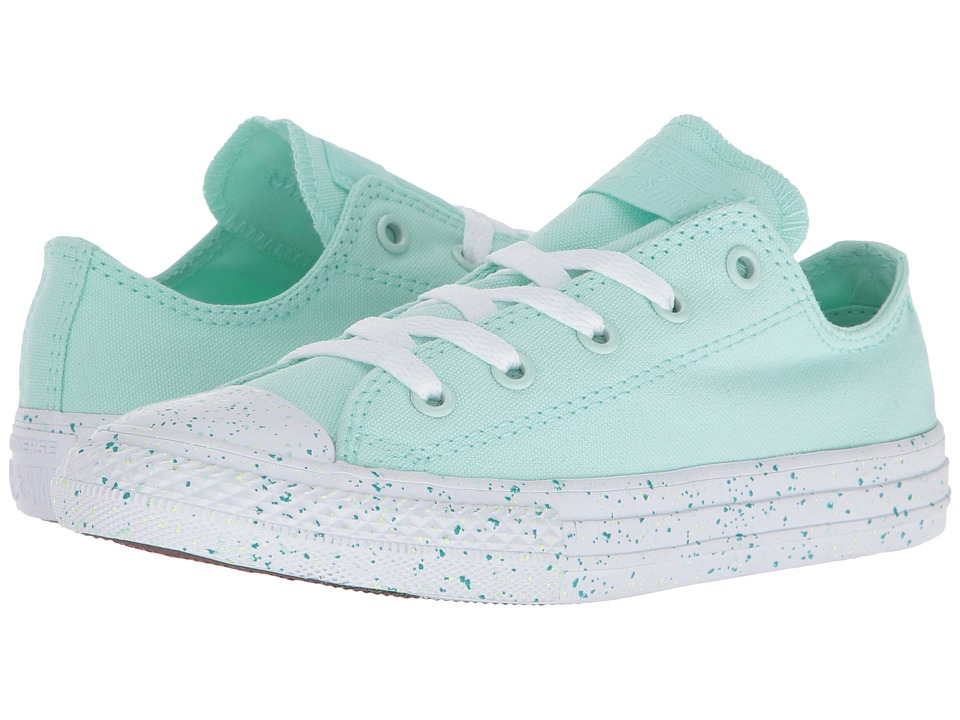 Converse Kids - Chuck Taylor All Star Speckled Midsole Ox (Little Kid) (Mint Foam/White/White) Girl's Shoes