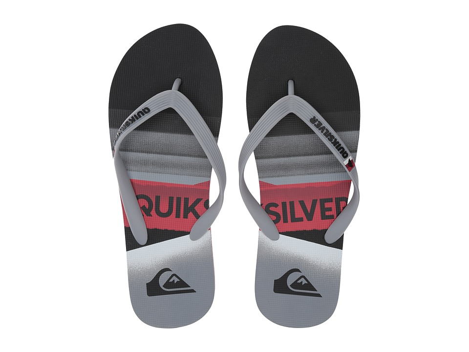 Quiksilver - Molokai Slash Logo (Black/Grey/Red) Men's Skate Shoes