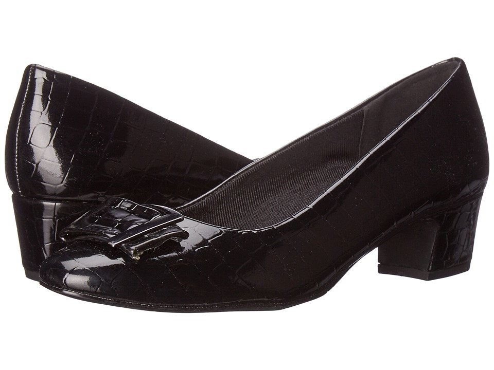 Easy Street - Wisteria (Black Patent Croco) Women's Shoes