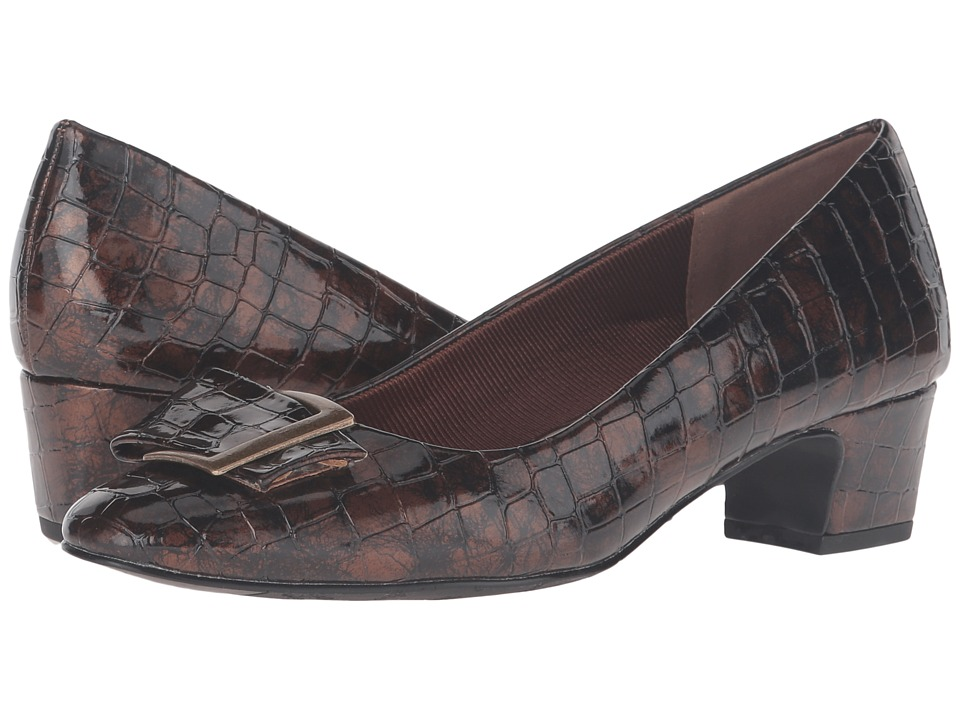Easy Street - Wisteria (Bronze Patent Croco) Women's Shoes