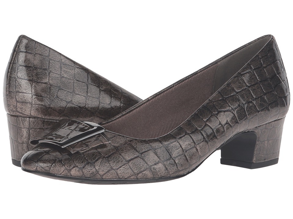 Easy Street - Wisteria (Pewter Patent Croco) Women's Shoes