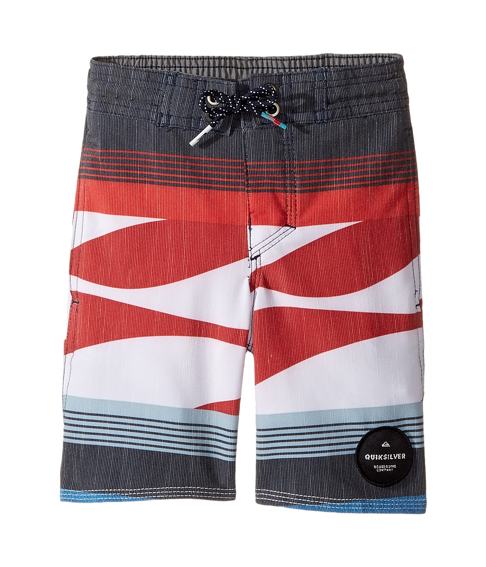 Quiksilver Kids - Swell Vision PR Beach Shorts (Toddler/Little Kids) (Imperial Blue) Boy's Swimwear
