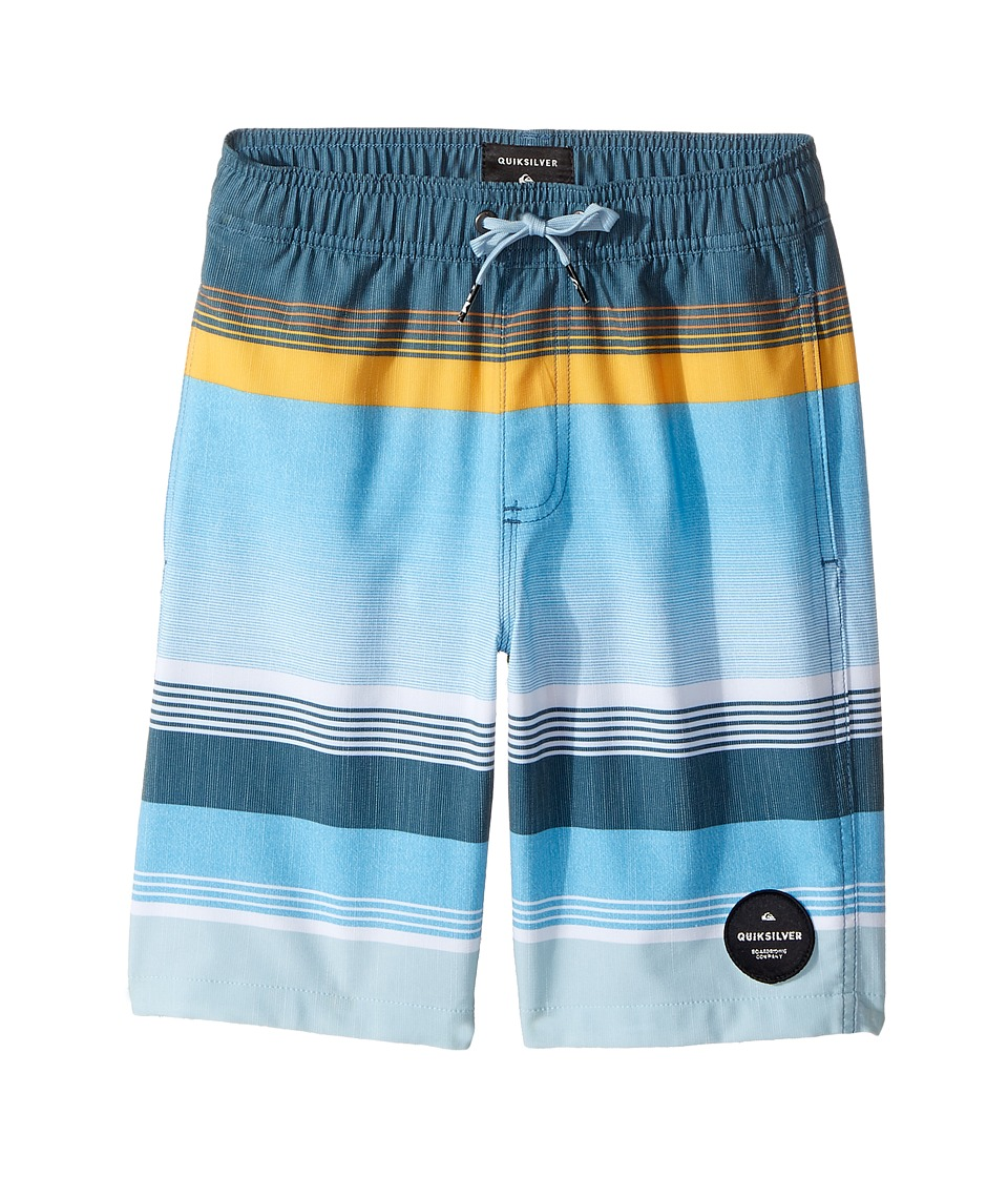 Quiksilver Kids - Swell Vision Volley Shorts (Toddler/Little Kids) (Indian Teal) Boy's Swimwear