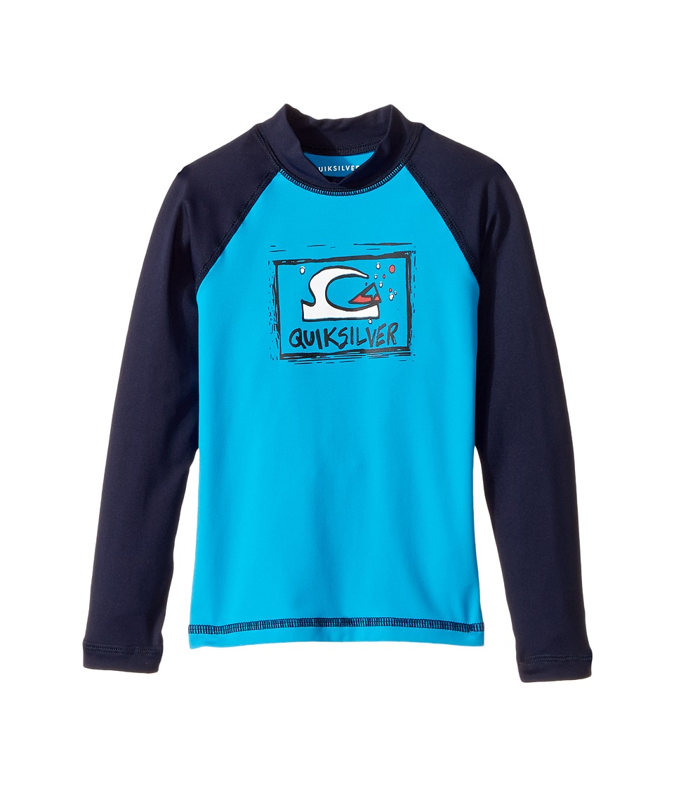 Quiksilver Kids - Bubble Dream Long Sleeve Rashguard (Toddler/Little Kids) (Blue Danube/Navy Blazer) Boy's Swimwear