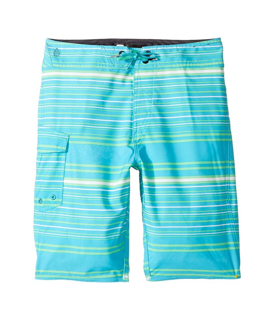 Volcom Kids Magnetic Liney Mod Boardshort (Big Kids) (Aqua) Boy