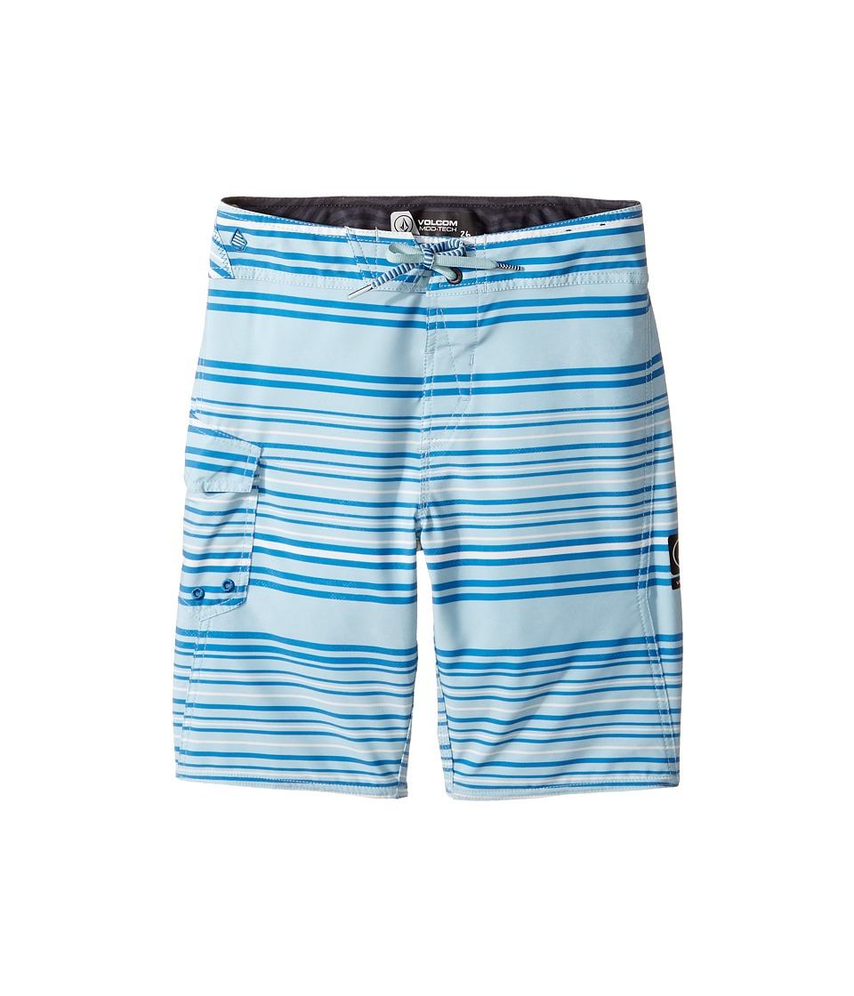 Volcom Kids - Magnetic Liney Mod Boardshort (Big Kids) (Cloud Blue) Boy's Swimwear