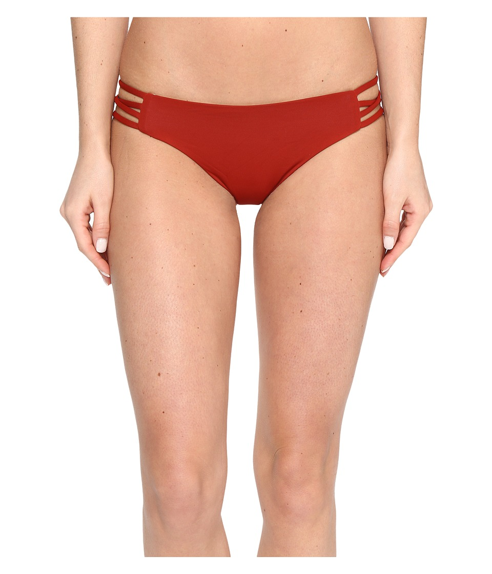 L*Space Color Block Low Down Bottoms (Redwood/Shell) Women