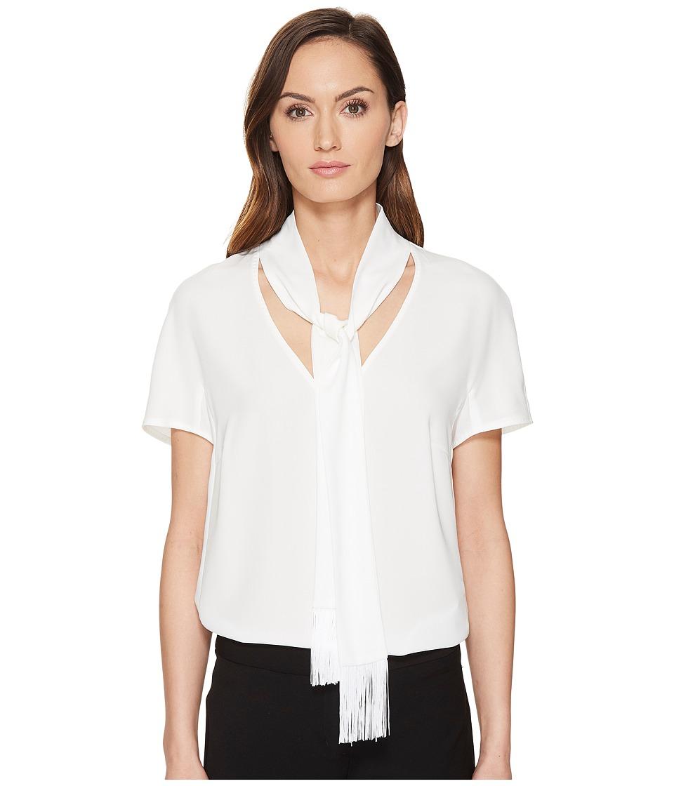 ESCADA - Naxanefa Short Sleeve Blouse (Off-White) Women's Blouse