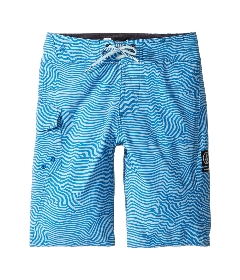Volcom Kids Magnetic Stone Mod Boardshorts (Big Kids) (Mayan Blue) Boy