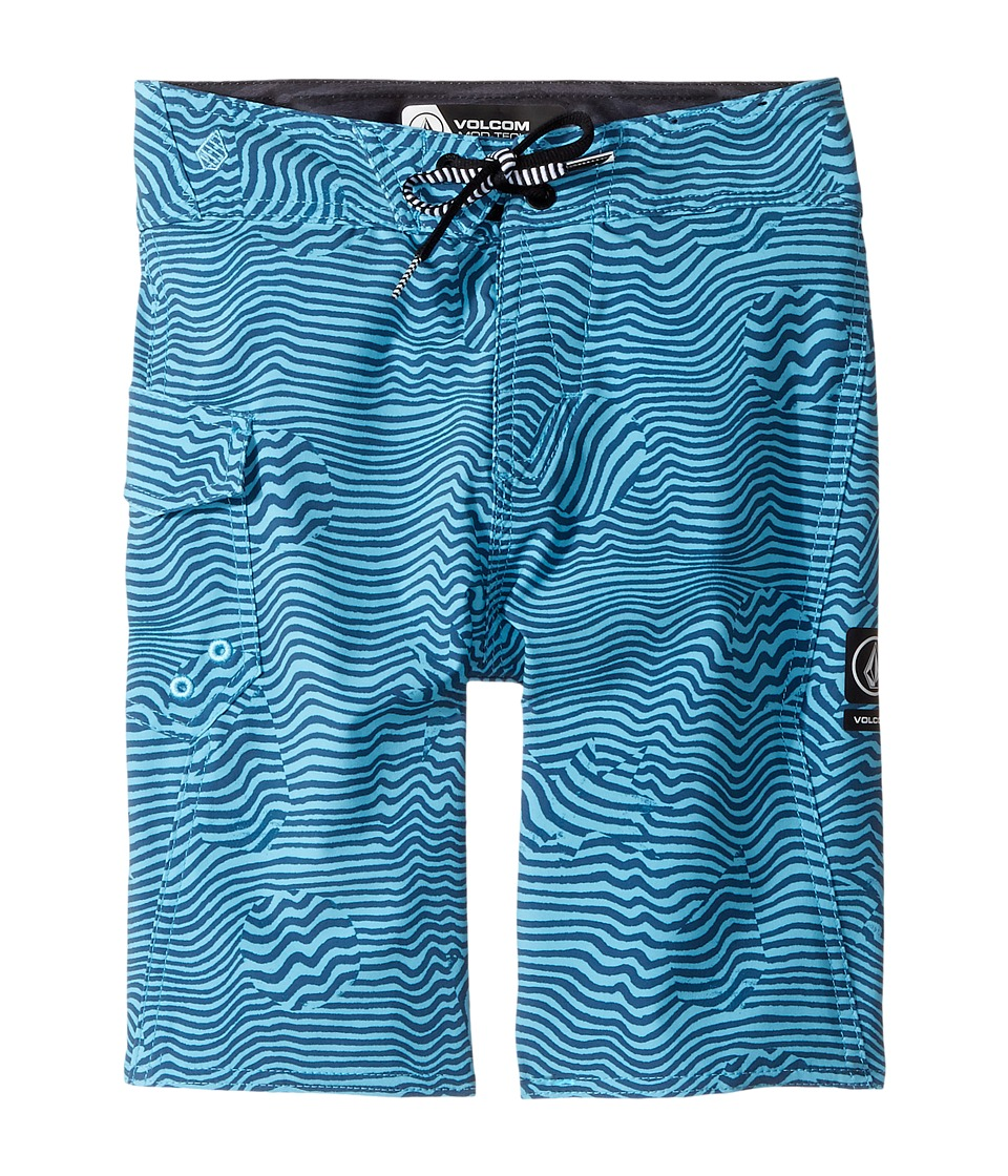 Volcom Kids Magnetic Stone Mod Boardshorts (Big Kids) (Dusty Aqua) Boy