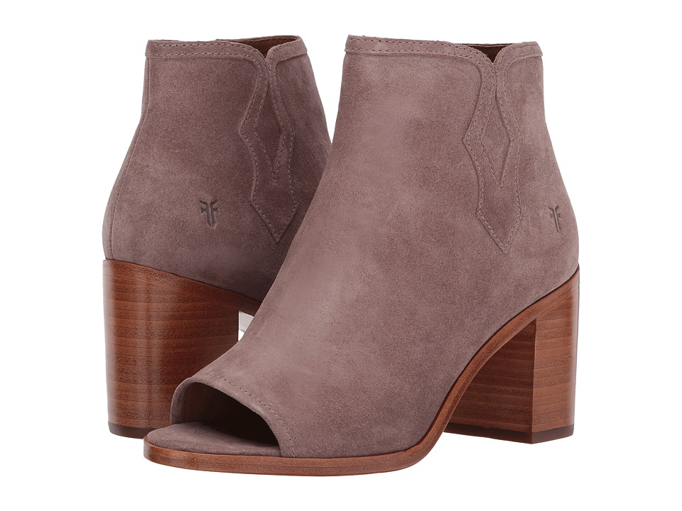 Frye Danica Peep Bootie (Dusty Rose Soft Oiled Suede) Women