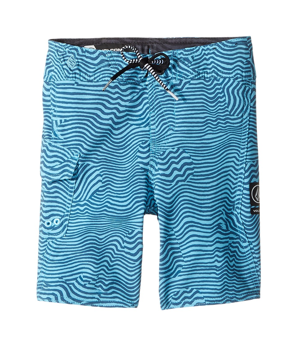 Volcom Kids - Magnetic Stone Mod Boardshorts (Toddler/Little Kids) (Dusty Aqua) Boy's Swimwear