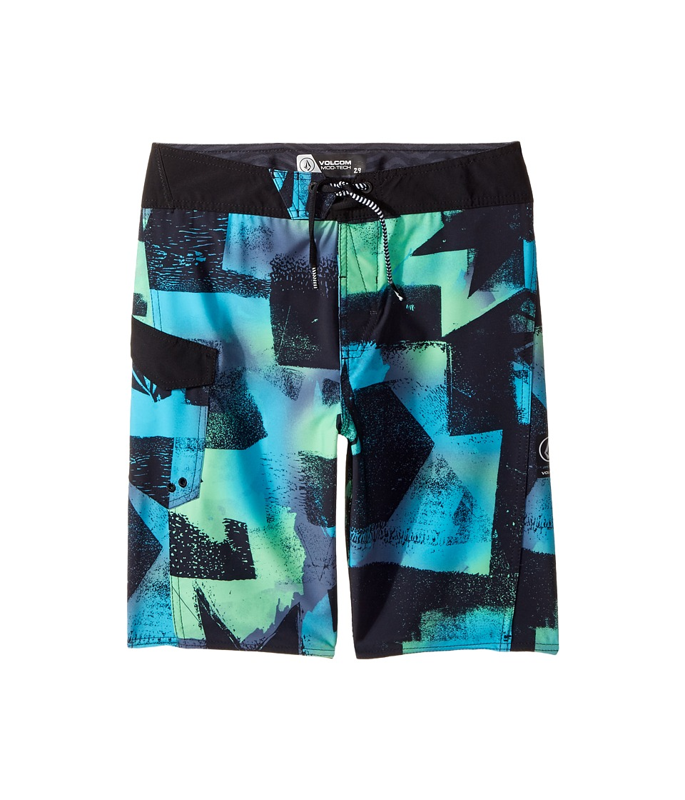 Volcom Kids - Costa Paste Up Mod Boardshort (Big Kids) (Aqua) Boy's Swimwear