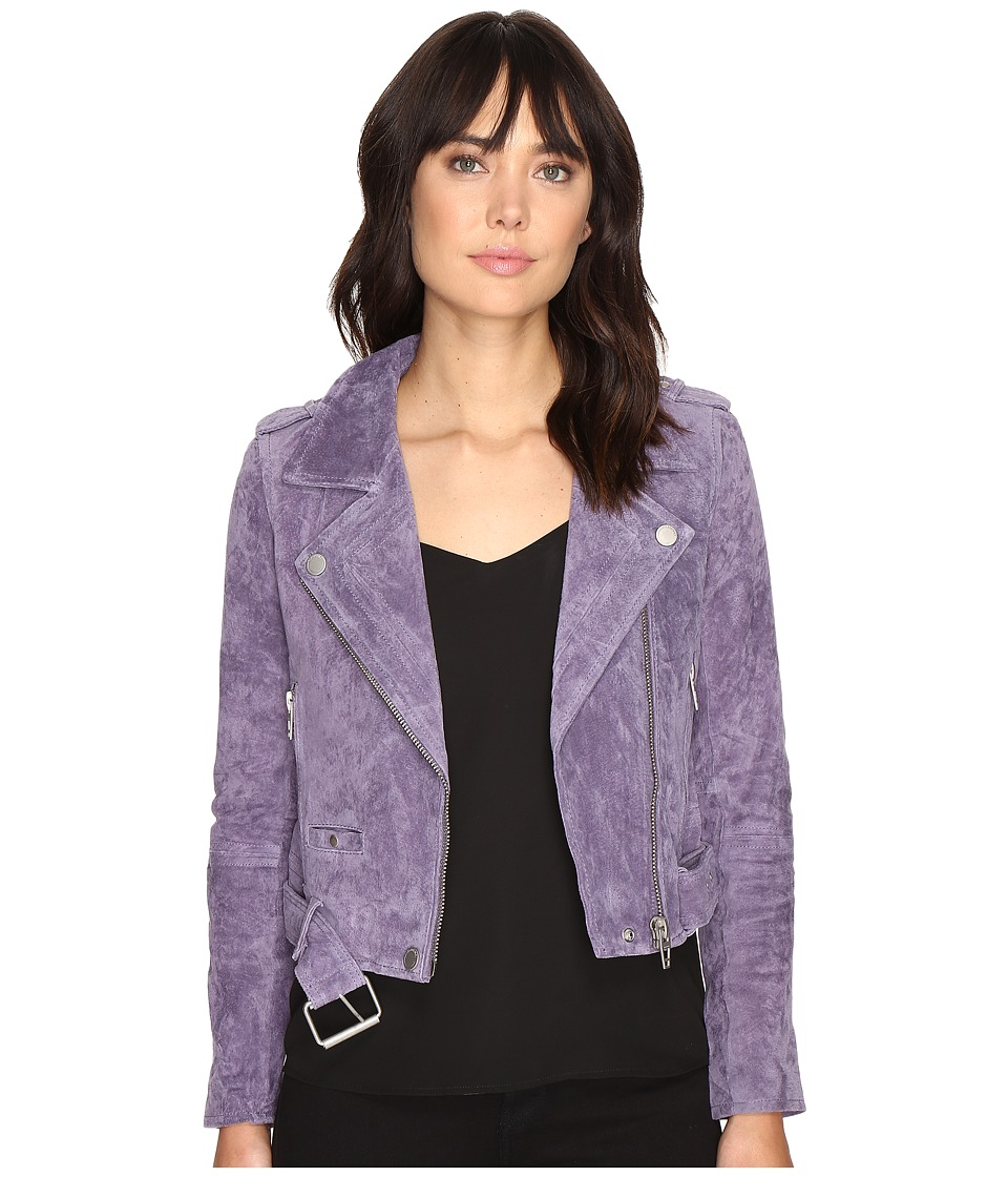 Blank NYC - Real Suede Moto Jacket in Purple Haze (Purple Haze) Women's Coat