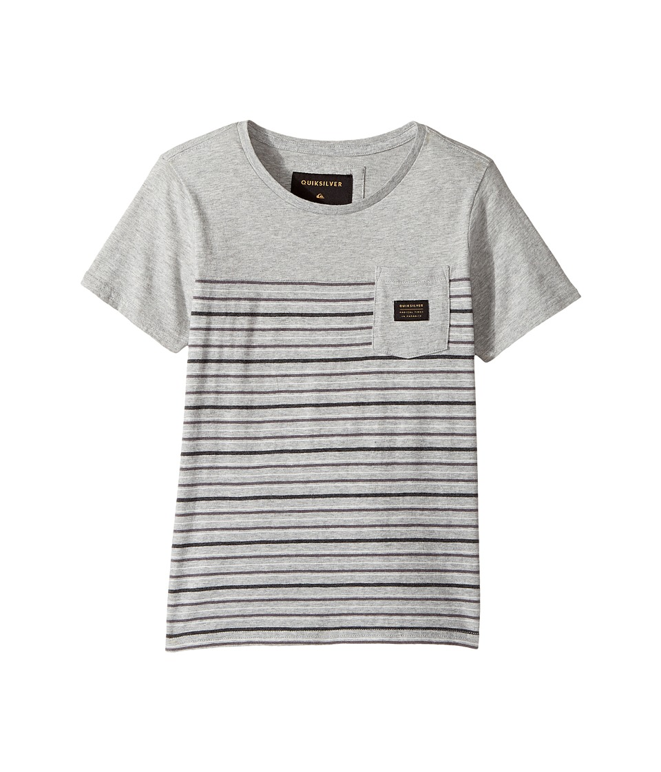 Quiksilver Kids - Full Tide Tee (Toddler/Little Kids) (Light Grey Heather) Boy's T Shirt