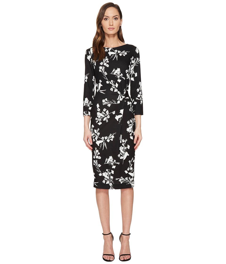 ESCADA Dassiva Floral Long Sleeve Wrap Dress