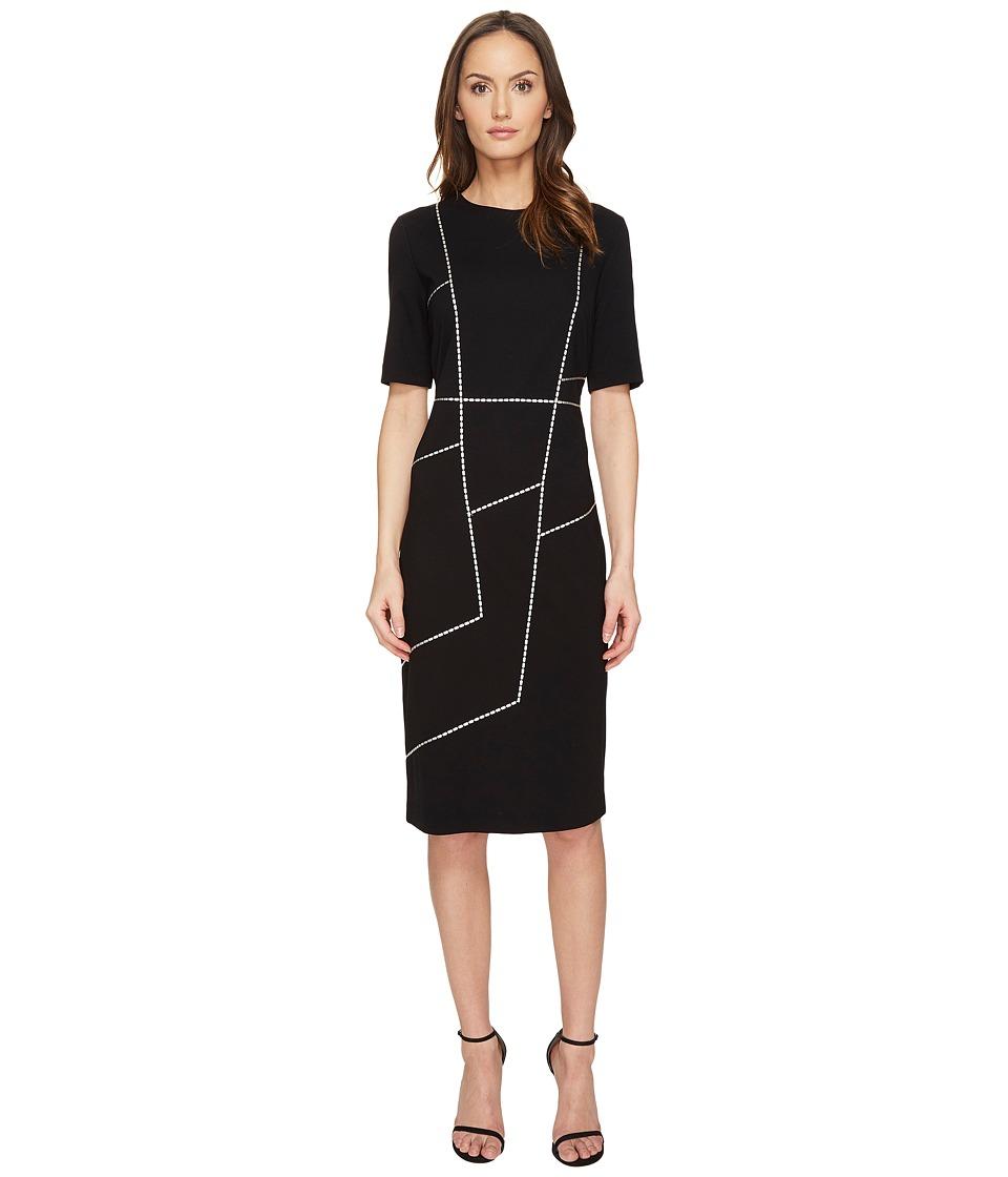 ESCADA - Dlacet Short Sleeve Dress (Black) Women's Dress