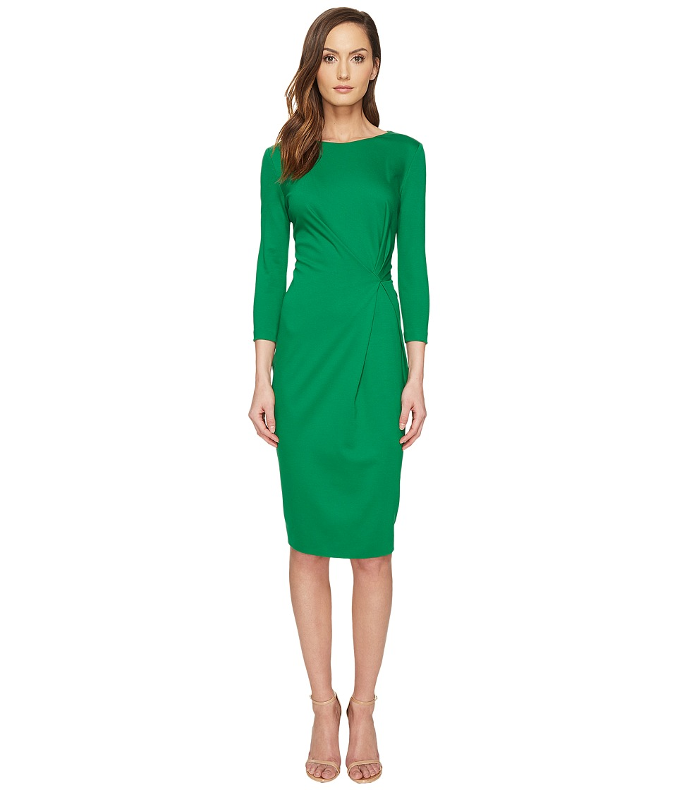 ESCADA - Dassiva Long Sleeve Wrap Dress (Leaf) Women's Dress