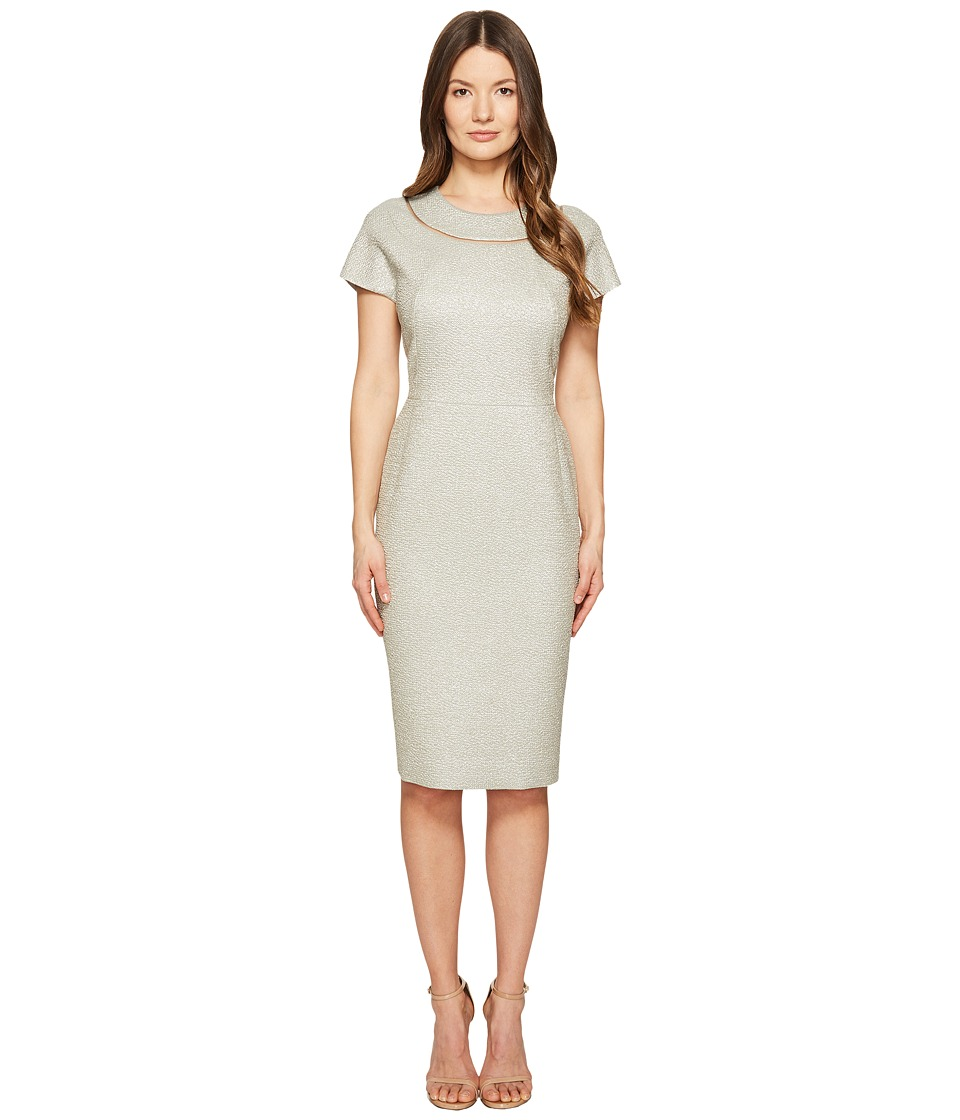 ESCADA - Dsill Short Sleeve Fitted Dress (Light Sand) Women's Dress