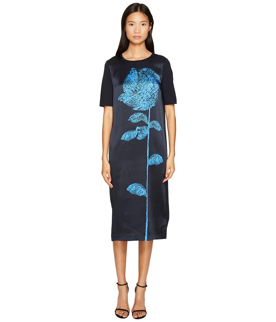 ESCADA - Deraffia Short Sleeve Flower Dress (Open Miscellaneous) Women's Dress