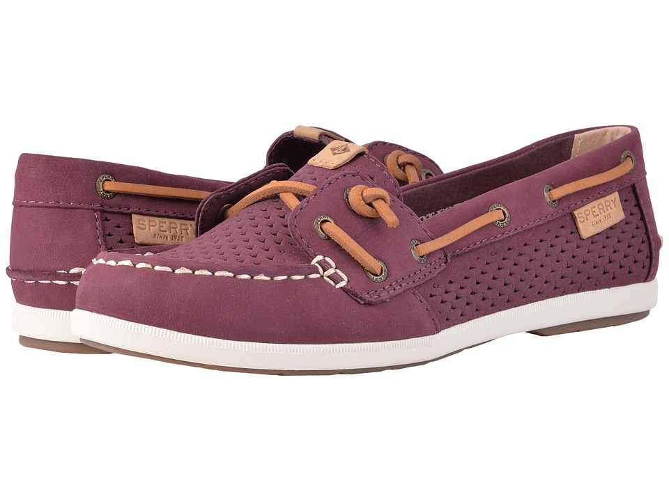 Sperry - Coil Ivy Scale Emboss (Grape) Women's Slip on Shoes