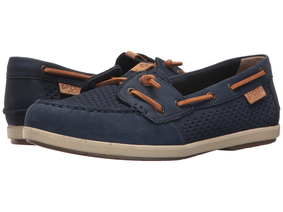 Sperry Coil Ivy Scale Emboss (Navy) Women