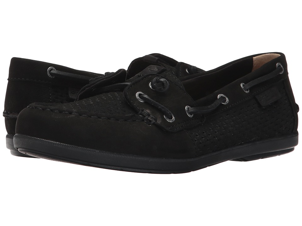 Sperry - Coil Ivy Scale Emboss (Black) Women's Slip on Shoes