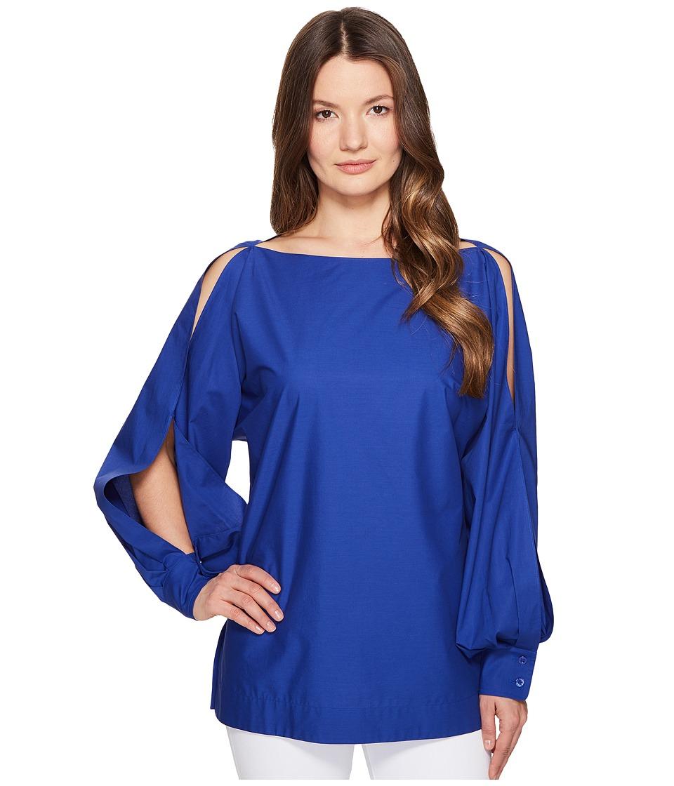 ESCADA - Nytal Puffy Long Sleeve Top (Azure) Women's Clothing