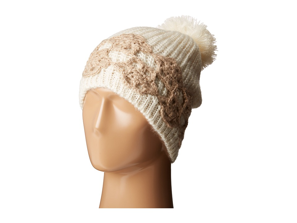 Betsey Johnson - Winter Bloom Beanie (Ivory/Sand) Beanies