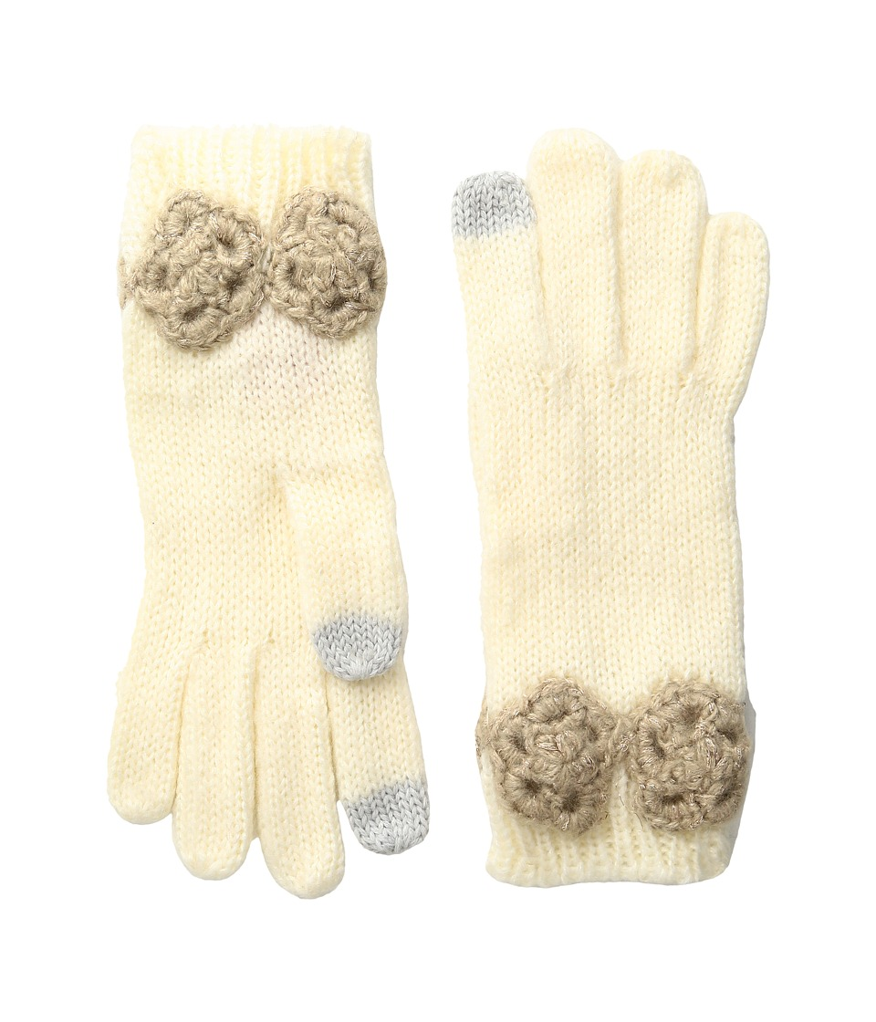 Betsey Johnson - Winter Bloom Gloves (Ivory) Extreme Cold Weather Gloves