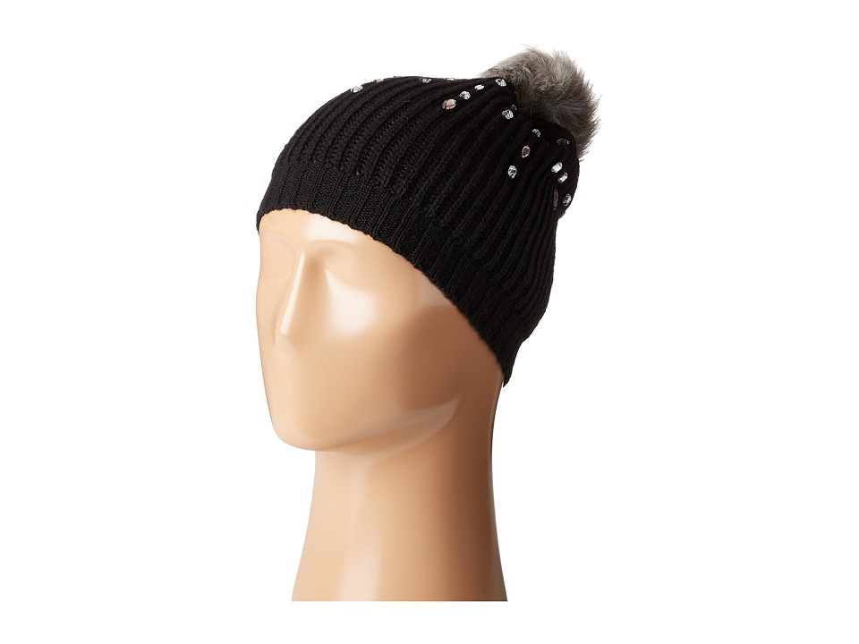 Betsey Johnson - Jewelled Beanie (Black) Beanies