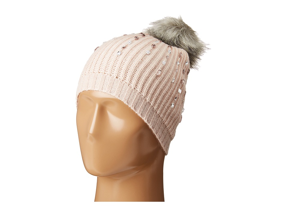 Betsey Johnson - Jewelled Beanie (Blush) Beanies
