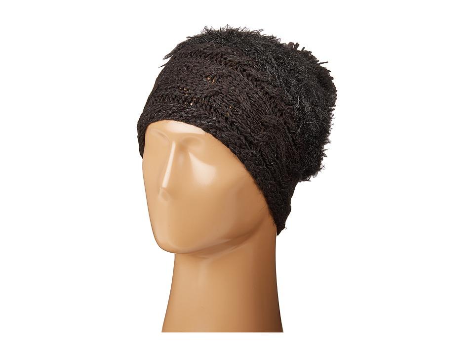 Betsey Johnson - Fuzzy Wuzzy Knit Beanie (Black) Beanies