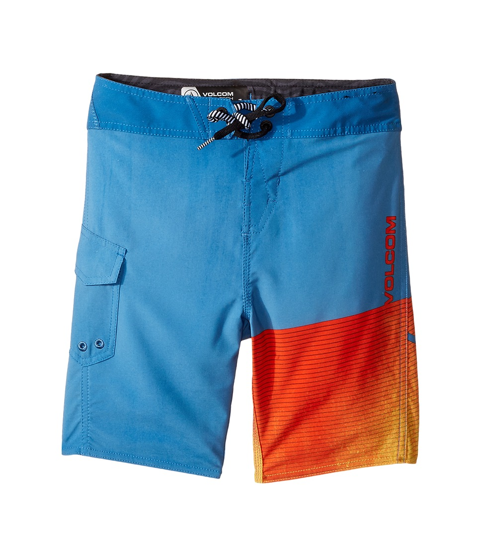Volcom Kids Costa Logo Mod Boardshorts (Toddler/Little Kids) (Mayan Blue) Boy