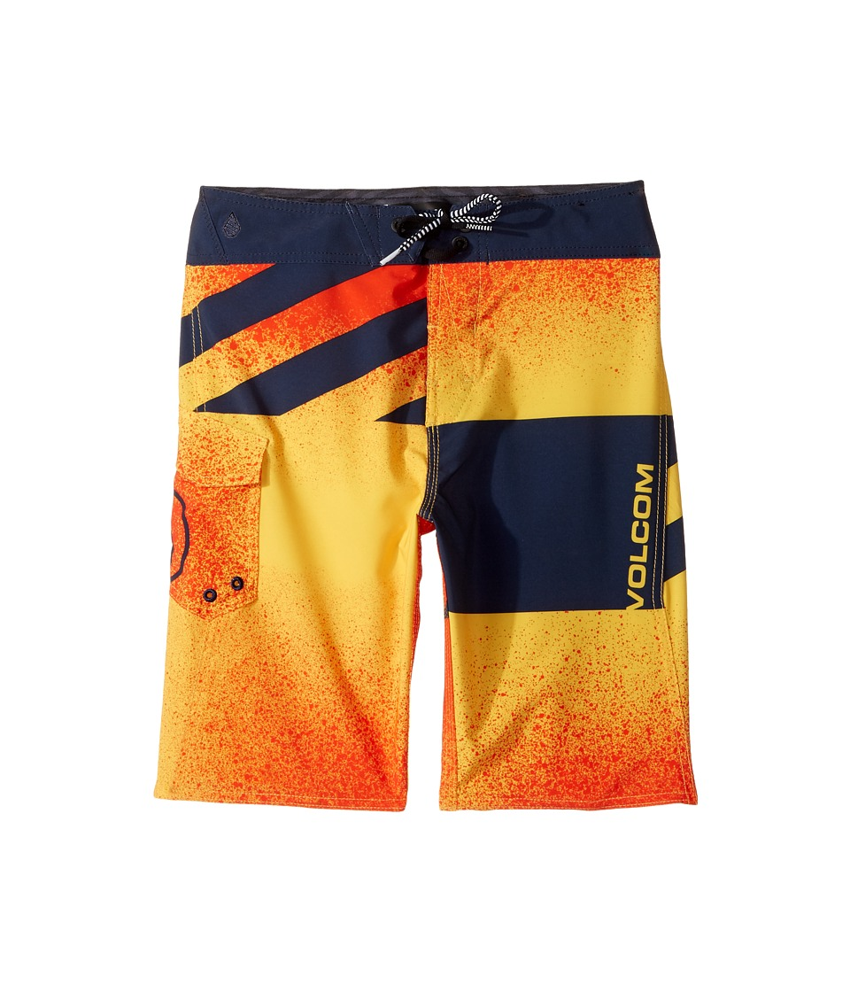 Volcom Kids Logo Party Pack Mod Boardshorts (Big Kids) (Bright Orange) Boy